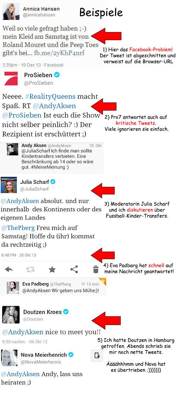 Twitter-Beispiele